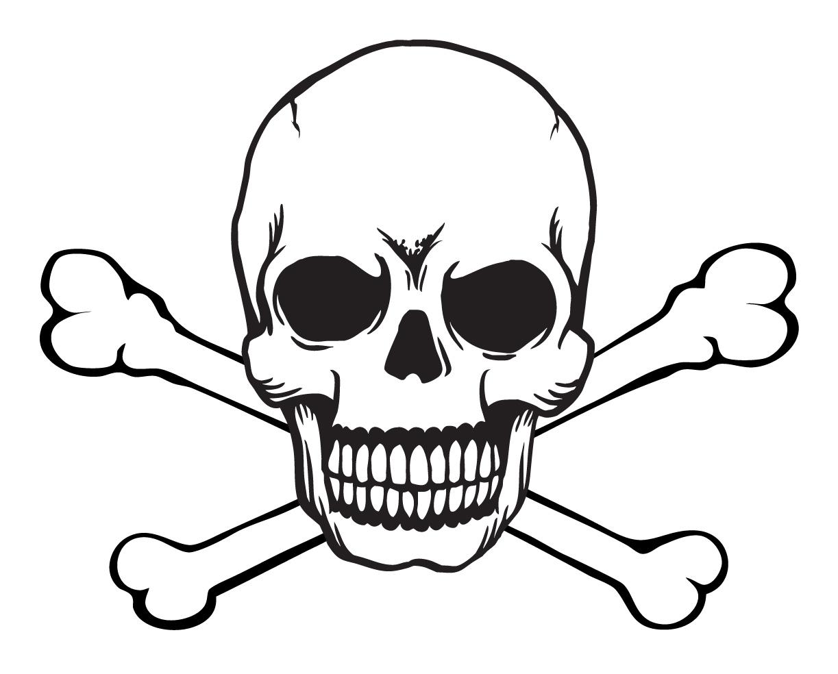 1223x984 Vector Clipart Skull