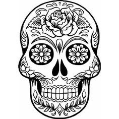 236x236 Mexican Skull Art