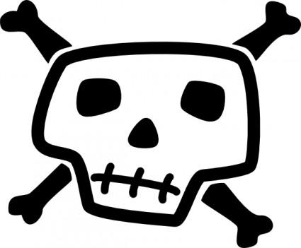 425x351 Clipart Realistic Human Skull