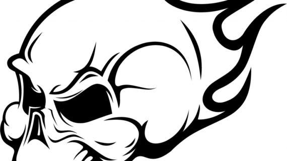 570x320 Drawings Of Skulls How To Draw A Skull Head Skull Head Tattoo Step