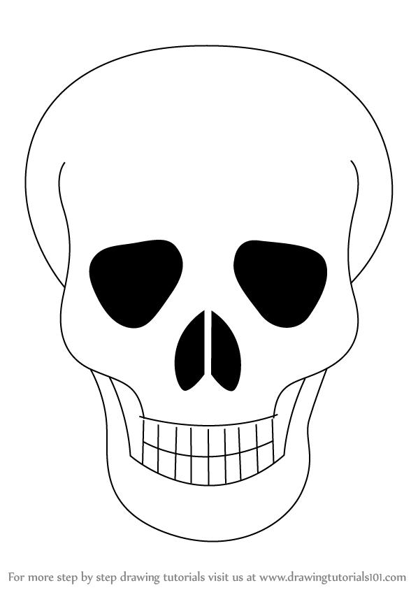 598x844 Drawn Skull Easy