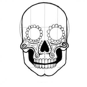 302x302 Drawn Sugar Skull Skeleton