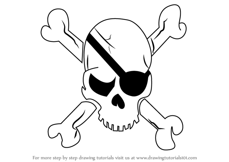 800x567 Learn How To Draw A Pirate Skull (Skulls) Step By Step Drawing
