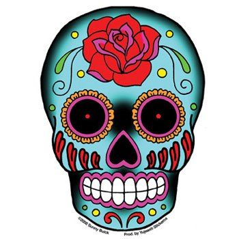 350x350 Mexican Skull Clipart