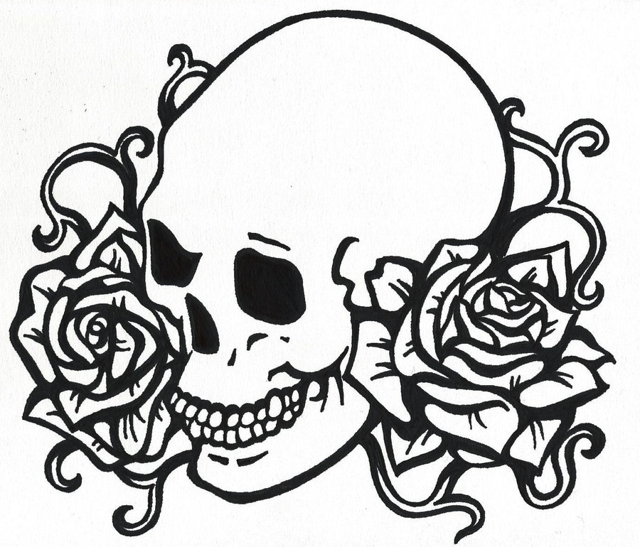 900x770 Skull Art Drawings
