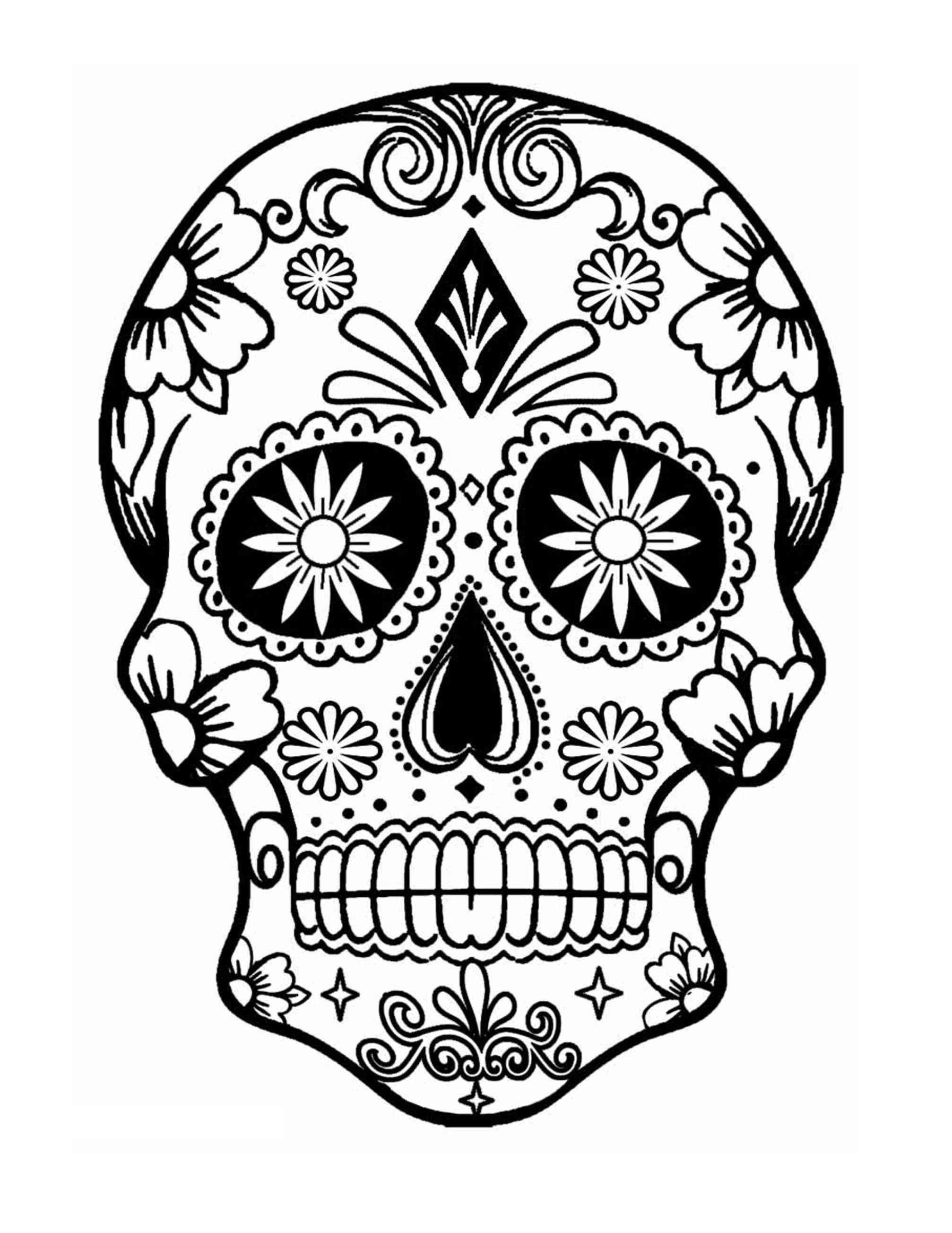 2014x2607 Skull Flower Finished Dia De Los Ispywithmycraftyeyes Sugar Skull