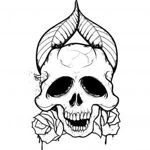 302x302 Skull Clipart Easy