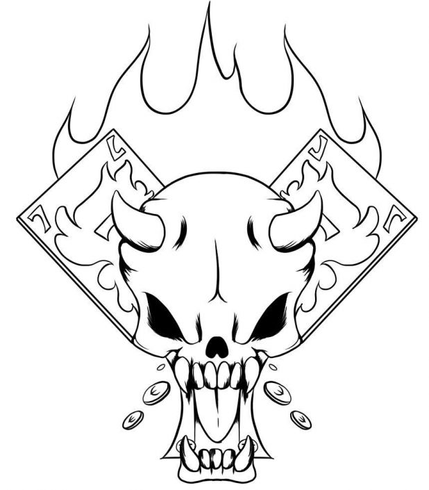 618x705 Adult Pictures Of Skulls To Draw Pictures Of Cool Skulls To Draw