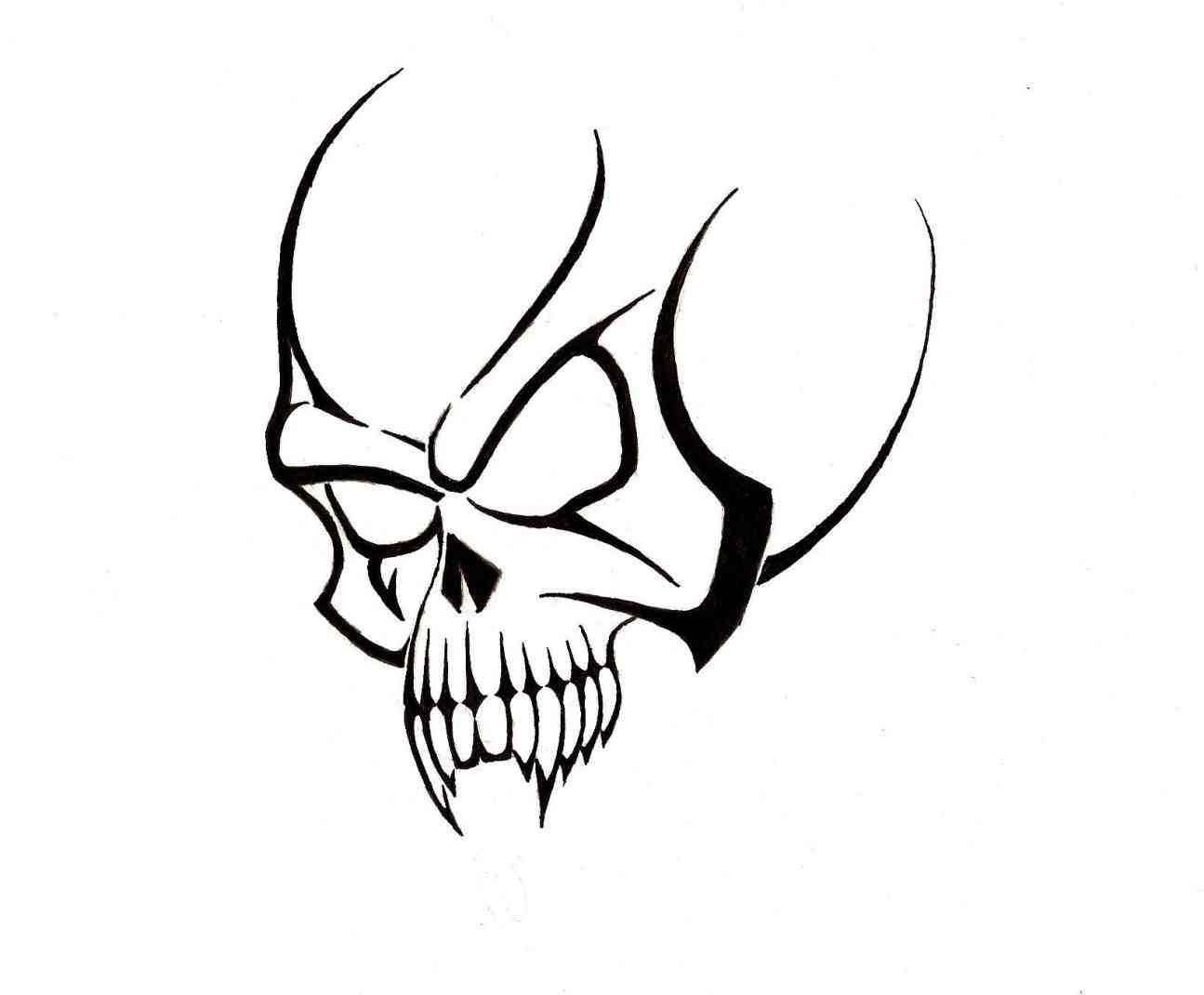 1295x1070 Pencil Drawings Of Tribal Skulls