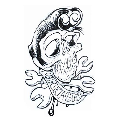 500x500 Skulls Drawings