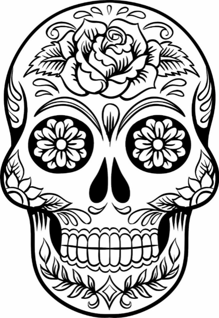 728x1054 Sugar Skull New Year Drawings Merry Christmas Amp Happy New Year