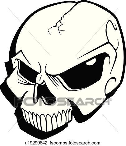 405x470 Clipart Of Skull, Skulls, Death, Doom, Creepy, Scary, Extreme