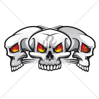 325x325 Danger Skull Gl Stock Images