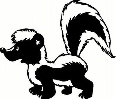 400x340 Cartoon Skunk Clipart