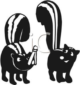 280x300 Cartoon Skunk Clipart