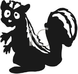 300x284 Surprised Cartoon Skunk