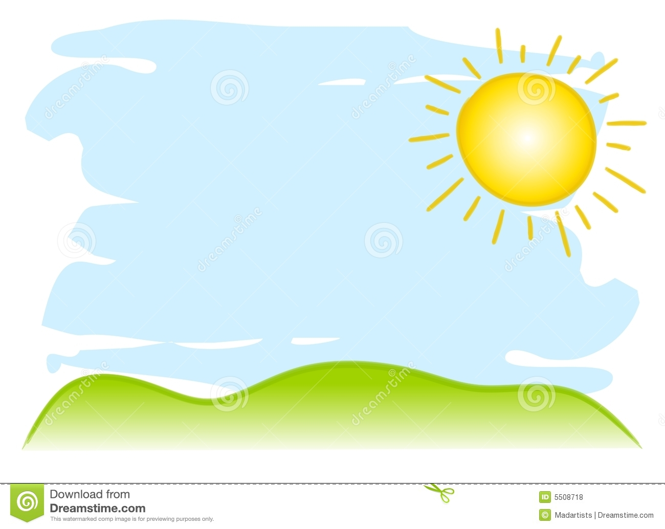 1300x1035 Lawn clipart sunny sky