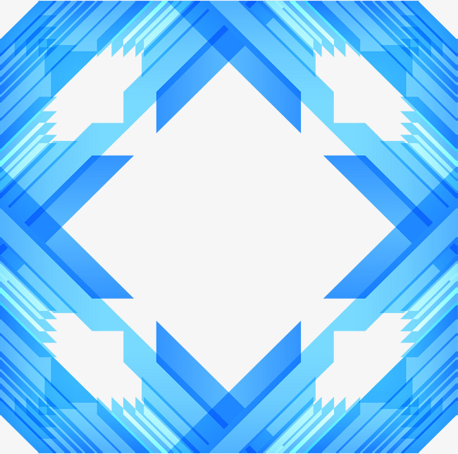 650x644 Sky blue geometric technology border, Vector Png, Abstract Border