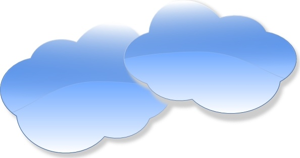594x314 Blue Sky and Clouds Clip Art – Cliparts