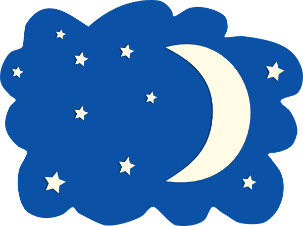 600x447 Moon and Sky Clip Art – Cliparts