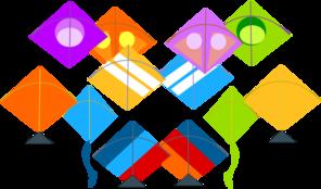 296x174 Pattern Kites Clip Art
