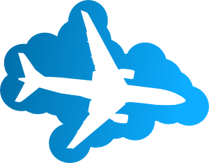 300x233 Plane In The Sky Clip Art