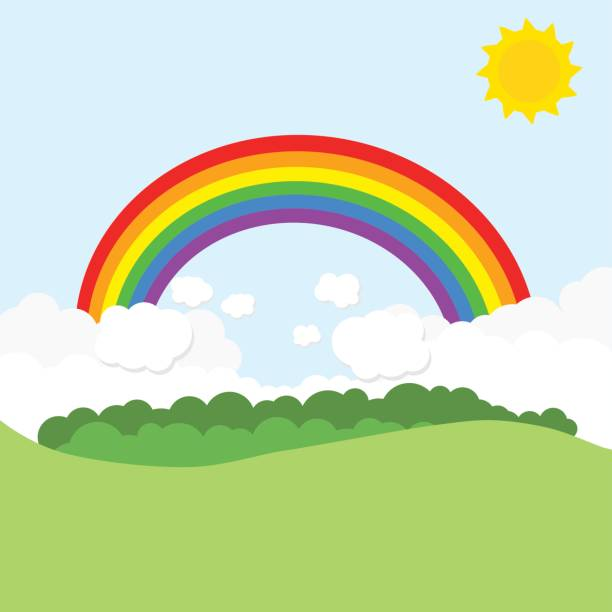 612x612 Rainbow clipart the sky