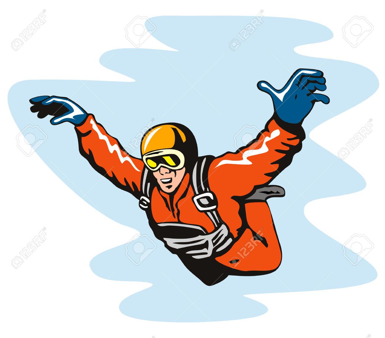 1300x1139 Sky diver clipart