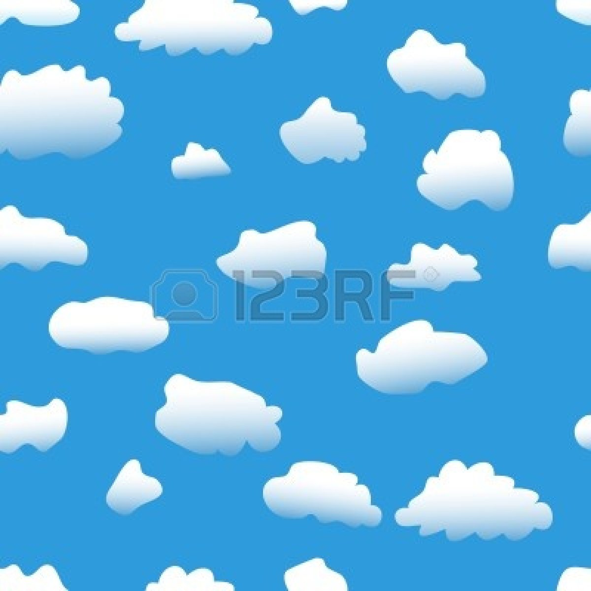 1200x1200 Sky with clouds clipart