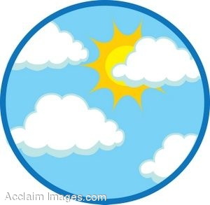 300x293 Clip Art of a Sunny Sky Icon
