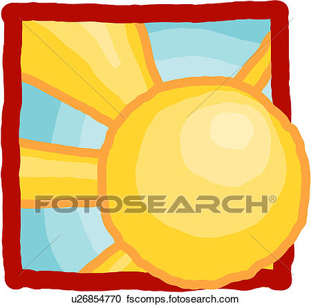450x442 Clipart of sun, sky, natural phenomenon, natural, light, weather