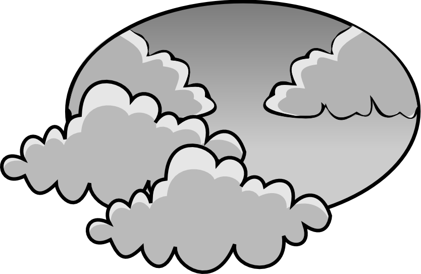 834x542 Gloomy clipart black and white
