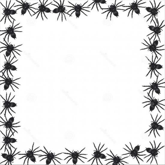 550x550 Halloween Clip Art Black And White Border