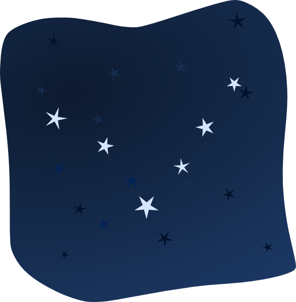 588x600 Night Sky Clip Art Black And White Sky Clip Art