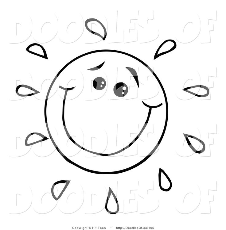 736x750 clip art black and white Vector Cartoon Clipart of a Happy Black
