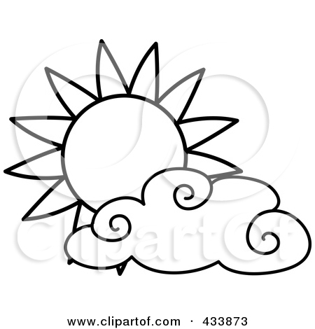 450x470 Outlined Sun And Cloud