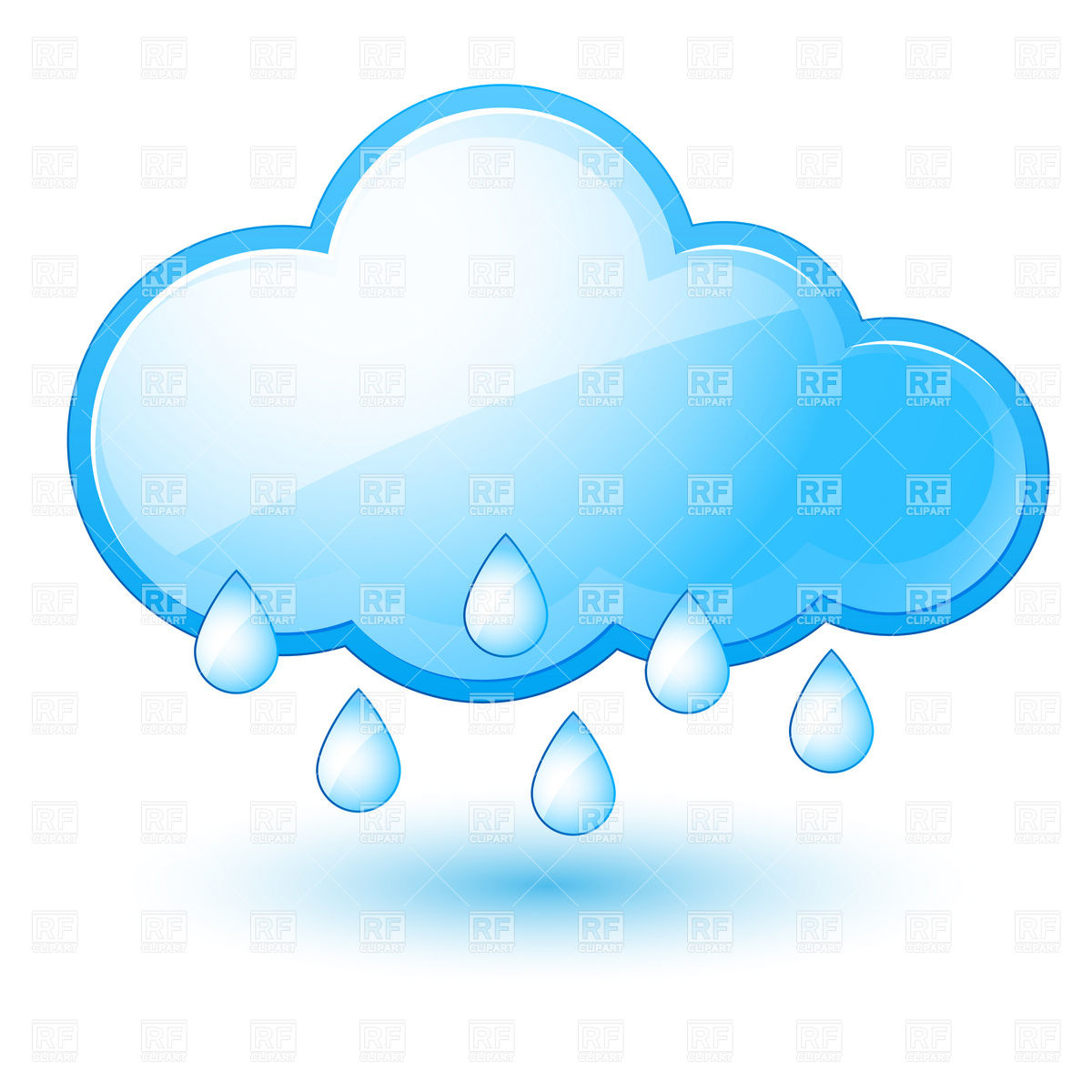 1200x1200 Rainy sky on black background Royalty Free Vector Clip Art Image
