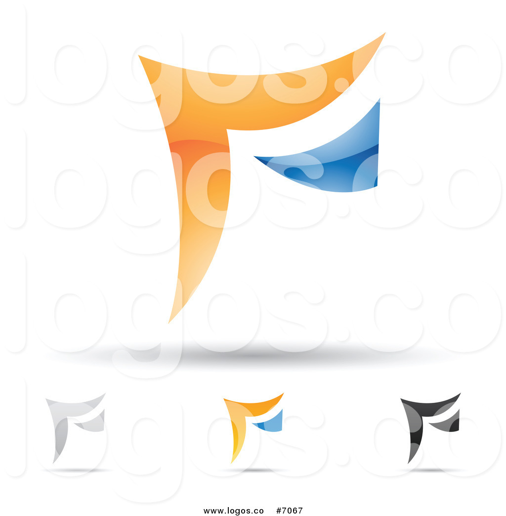 1024x1044 Royalty Free Clip Art Vector Logos of Abstract Letter F Designs by