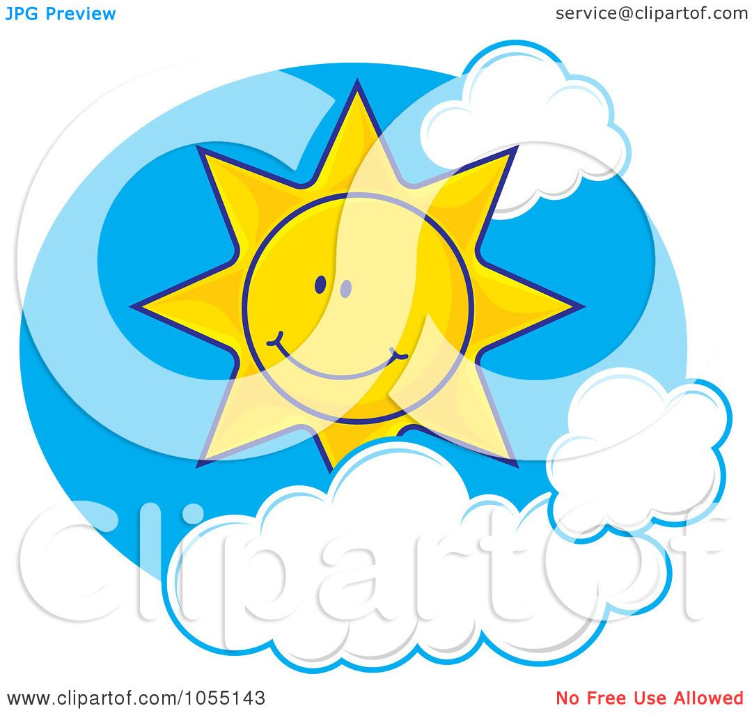 1080x1024 Royalty Free Vector Clip Art Illustration of a Happy Sun In A