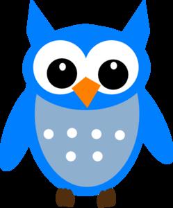 249x300 Sky Blue Hoot Owl Clip Art