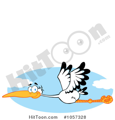 450x470 Stork Clipart