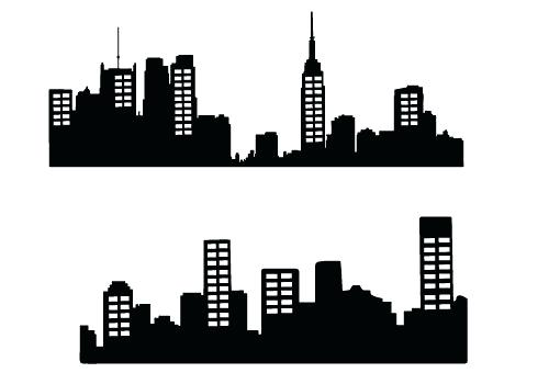 500x350 City Skyline Clipart Clip Art City Skyline Vector Silhouette