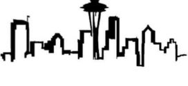 272x125 Seattle Skyline Silhouette Clip Art On Seattle Clip Art