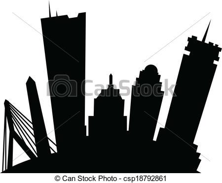 450x371 Boston Skyline Clip Art Cliparts