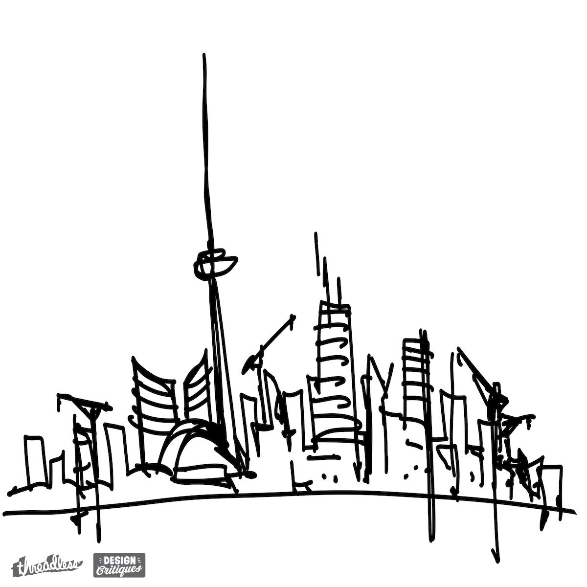 1200x1200 Drawn Skyline Graffiti Skyline