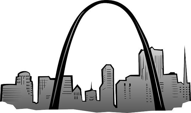 640x381 Gateway, Saint, Drawing, Cartoon, Arch, Louis, Skyline