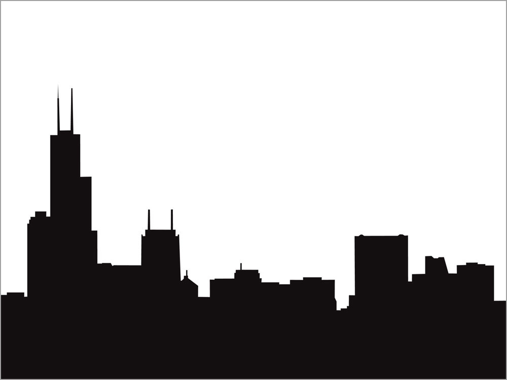 1000x750 Chicago Skyline Drawing Clipart