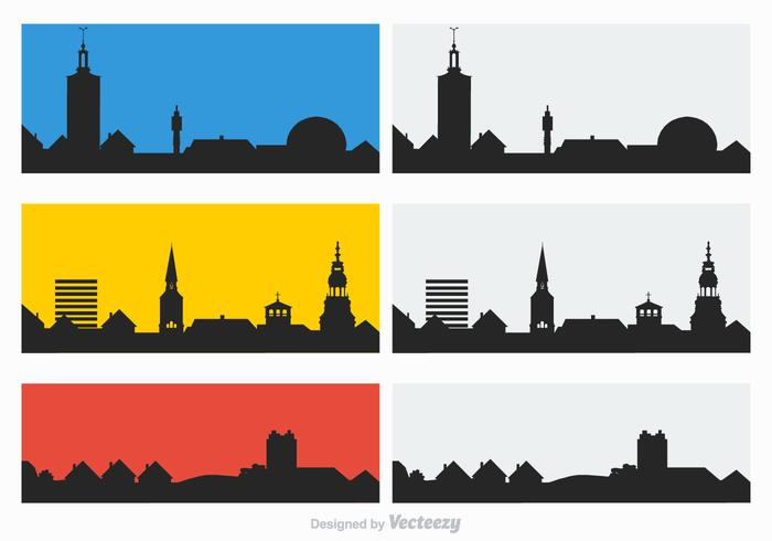 700x490 Free Rooftops Silhouette Vector