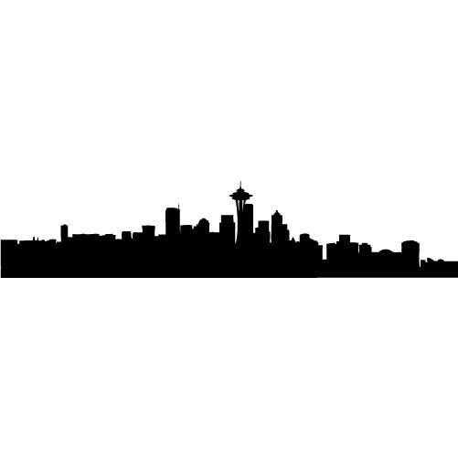 501x501 Graphics For Seattle Skyline Silhouette Graphics Www