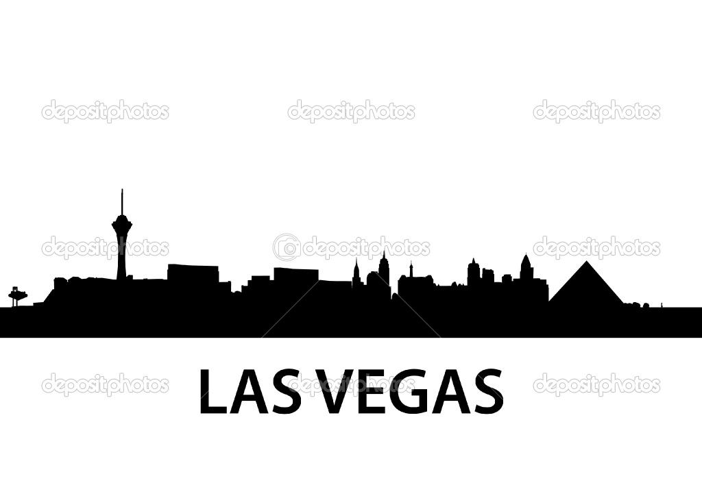 1024x724 Las Vegas Skyline Silhouette Clip Art